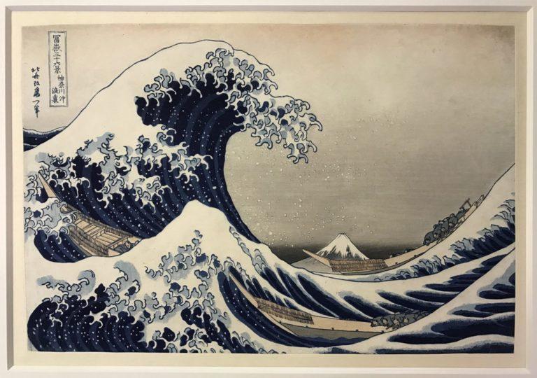 Restauration d'oeuvre sur papier : Hokusaï après restauration