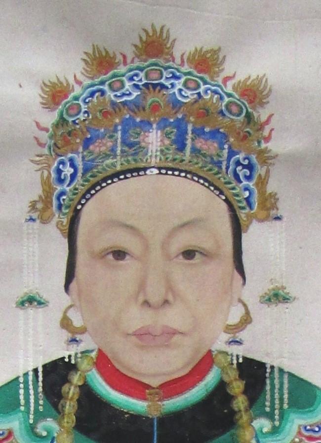 restauration portrait chinois après