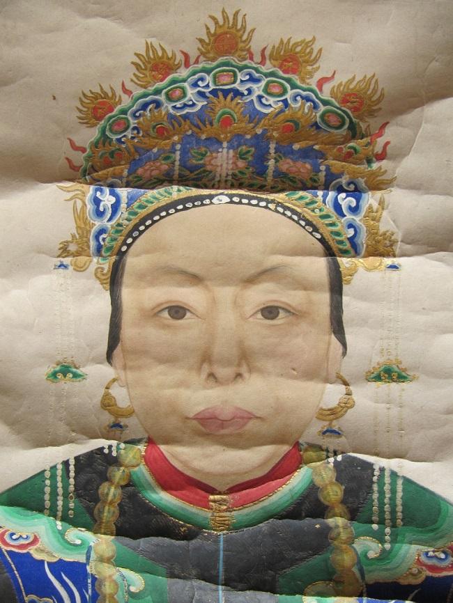 restauration portrait chinois avant
